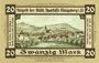 Banknoten Königsberg in Franken. Stadt. Billet. 20 mark novembre 1918