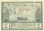 Banknoten Königsberg N. M. (Krzywka, Pologne). Stadt. Billet. 50 pf février 1921