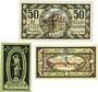 Banknoten Königshofen im Grabfeld. Stadt. Billets. 50 pf 1.5.1919, 20 pf 1.4.1921, 30 pf 1.4.1921