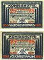 Banknoten Königshütte (Chorzow, Pologne). Stadt. Billets. 25 pf 20.3.1921 (2ex)