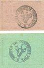 Banknoten Konitz (Chojnice, Pologne). Stadt. Billets. 5 pf, 20 pf 1918 - fin 1919