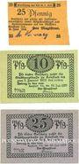 Banknoten Konstadt (Wolczyn, Pologne). Stadt. Billets. 25 pf 15.6.1919, 10 pf, 25 pf 22.7.1920