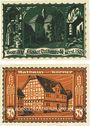Banknoten Körner. Gemeinde. Série de 2 billets. 25 pf, 50 pf (1922)