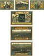 Banknoten Kösen. Bad. Stadt. Série de 6 billets. 10 pf (3ex), 50 pf (3 ex) 1.6.1921