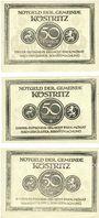 Banknoten Köstritz. Gemeinde. Billets. 50 pf (3ex) (1921)