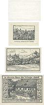 Banknoten Kranichfeld. Stadt. Billets. 50 pf 1918, 10 pf, 25 pf, 50 pf 22.2.1921