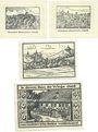 Banknoten Kranichfeld. Stadt. Série de 4 billets. 10 pf (2ex),  25 pf, 50 pf 22.2.1921