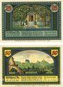 Banknoten Krölpa in Thür. Stadt. Billets. 25 pf, 50 pf 31.7.1921