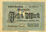 Banknoten Krumbach. Distrikt. Billet. 10 mark 1.12.1918
