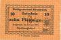 Banknoten Krumbach. Stadt. Billet. 10 pf 15.2.1917