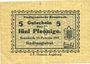 Banknoten Krumbach. Stadt. Billet. 5 pf 15.2.1917