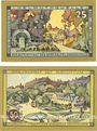 Banknoten Kudowa. Bad (Kudowa Zdroj, Pologne). Gemeinde. Série de 2 billets. 25 pf, 50 pf (mai 1921)