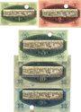 Banknoten Kulmbach. Spinnerei A. G. Billets. 1, 2, 5, 10, 20 mark n.d. - 1.2.1919, annulation par perforation