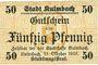 Banknoten Kulmbach. Stadt. Billet. 50 pf 11.10.1918
