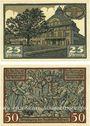 Banknoten Kyritz. Gewerbe- und Landwirtschaftsbank e.G.m.u.H. Billets. 25 pf, 50 pf 31.12.1921
