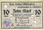 Banknoten Labiau (Polessk, Russie). Kreis. Billet. 10 mark n.d., annulation par perforation