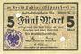 Banknoten Labiau (Polessk, Russie). Kreis. Billet. 5 mark n.d., annulation par perforation