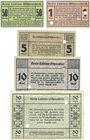 Banknoten Labiau (Polessk, Russie). Kreis. Billets. 50 pf, 1, 5, 10, 50 mark n.d.