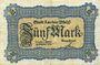 Banknoten Landau. Stadt. Billet. 5 mark 21.10.1918