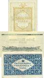 Banknoten Landau. Stadt. Billets. 5, 10, 200 millions mark 1.9.1923