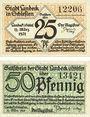 Banknoten Landeck. Bad (Ledyczek, Pologne). Billets. 25 pf, 50 pf 11.3.1921