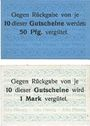 Banknoten Landeshut (Kamienna Gora, Pologne), J. Rinkel, billets, 5 pf, 10 pf oct 1919