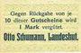 Banknoten Landeshut (Kamienna Gora, Pologne), O. Schumann, billet, 10 pf avril 1920