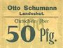 Banknoten Landeshut (Kamienna Gora, Pologne), O. Schumann, billet, 50 pf 1920