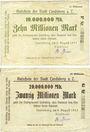 Banknoten Landsberg am Lech, Stadt, billets, 10 millions mark, 20 millions mark 9.8.1923