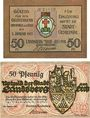 Banknoten Landsberg am Lech, Stadt, billets, 50 pf juillet 1918, 50 pf janvier 1921