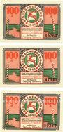 Banknoten Landsberg (Gorzow Slaski, Pologne), Stadt, billets, 100 pf (3ex) 20.3.1921