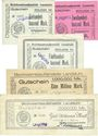 Banknoten Landstuhl, Bezirksamtsaußenstelle billets 100000, 200000, 500000, 1 million, 5 millions mk 13.8.1923