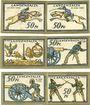 Banknoten Langensalza, Stadt, série de 6 billets, 50 pf (6ex) 1921