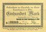 Banknoten Lauenburg a. d. Elbe, Sparkasse der Stadt, billet, 100 mark 31.10.1922