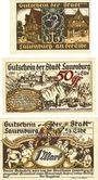 Banknoten Lauenburg a. d. Elbe, Stadt, série de 3 billets, 25 pf, 50 pf, 1 mark