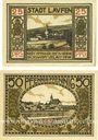 Banknoten Laufen, Stadt, série de 2 billets, 25 pf, 50 pf 20.10.1920