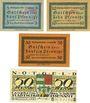 Banknoten Laupheim, Stadt, billets, 5 pf, 10 pf, 50 pf 15.5.1917, 50 pf 5.7.1919