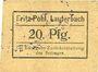 Banknoten Lauterbach (Gomorow, Pologne), Fritz Pohl, billet, 20 pf (1918?)