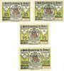 Banknoten Lauterberg i. Harz, Stadt, billets, 25 pf, 50 pf, 75 pf, 100 pf 15.7.1921