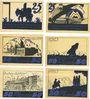 Banknoten Leipzig-Land, Notgeld-Ausstellung, série de 6 billets, 25 pf (2ex), 50 pf (4ex) 27.8.1921