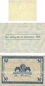 Banknoten Leipzig-Land, Stadt, bilelts, 10 pf n.d. - 31.12.1918, 50 n.d. - 31.12.1919, 50 pf n.d. - 31.12.1920
