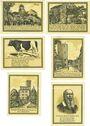 Banknoten Lenzen a. d. Elbe, Stadt, série de 6 billets, 50 pf (3ex), 75 pf (3ex) 1922