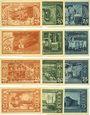 Banknoten Leopoldshall, Stadt, 4 séries de 3 billets, 25 pf, 50 pf, 75 pf 25.7.1921