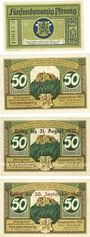Banknoten Leutenberg, Stadt,  billets, 25 pf, 50 pf 1921, 50 pf 1921-31.8.1922, 50 pf 1921-30.9.1922