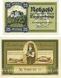 Banknoten Leutenberg, Stadt, série de 2 billets, 25 pf, 50 pf 1921