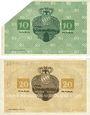 Banknoten Lichtenfels a. Main, Distriktsgemeinde, billets, 10 mk, 20 mk 8.11.1918, annulation...
