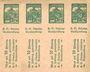 Banknoten Lichtenfels a. Main, H. O. Schulze Buchhandlung, billet, 10 pf (1920). Page de 8 ex.