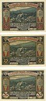 Banknoten Liebenstein, Bad, Gemeinde, série de 3 billets, 10 pf, 25 pf, 50 pf (1921)