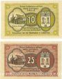 Banknoten Lieberose, Stadt, billets, 10 pf , 25 pf nov 1919