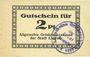 Banknoten Liegnitz (Legnica, Pologne), Allgemeine Ortskrankenkasse, billet, 2 pf, carton blanc mince